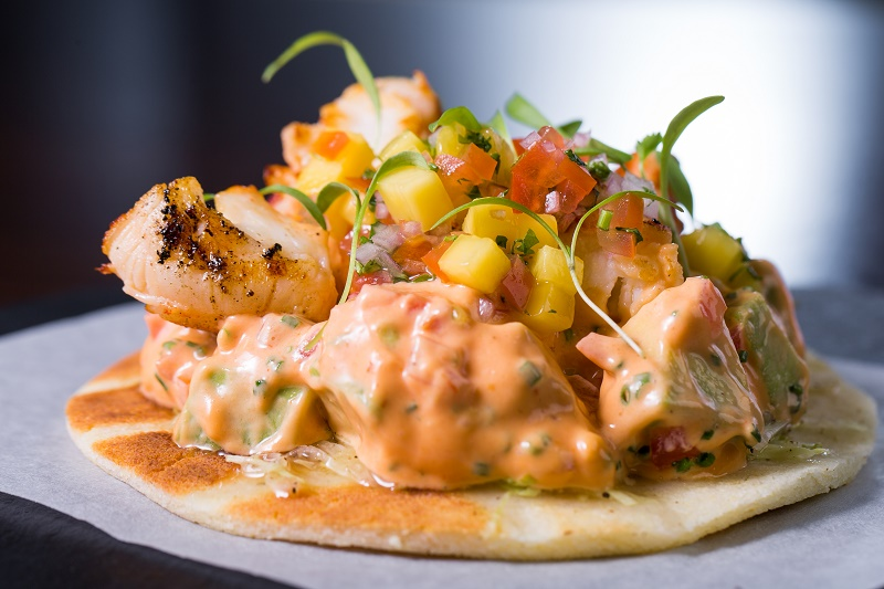 Lobster arepa